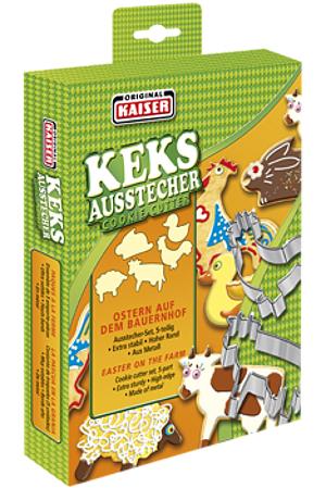 Kaiser Ausstecher Ostern auf dem Bauernhof (5er)