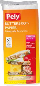Pely Butterbrot-Papier 70 Bögen 32 x 23cm