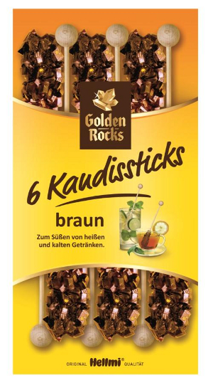 Hellmi Golden Rocks 6 Kandissticks (75g)