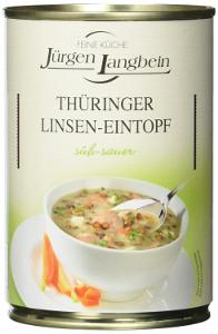 Jürgen Langbein Thüringer Linsentopf. Süss-sauer 400g