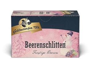 1- Goldmännchen-Tee Beerenschlitten 50g für 20 Filterbeutel à 2,5g