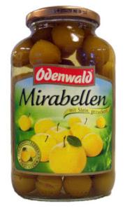 Odenwald Mirabellen mit Stein, gezuckert 700g