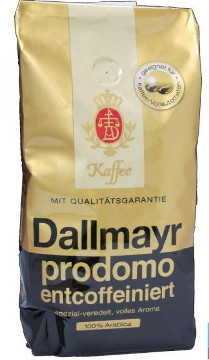 1- Dallmayr Kaffee Prodomo entcoffeiniert ganze Bohnen 500g