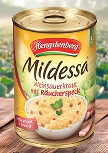 Hengstenberg Mildessa Weinsauerkraut mit Räucherspeck 400g