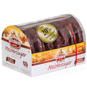 1- Wicklein Nürnberger Meistersinger Oblaten-Lebkuchen Schoko 200g