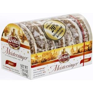 1- Wicklein Meistersinger Oblaten-Lebkuchen glasiert 200g