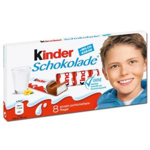 1- Ferrero Kinder-Schokolade 100g für 8 Riegel