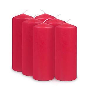 Gala Kerzen Stumpen 4 x 9cm Rot für 4er