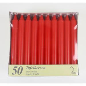 Gala Tafelkerze rot 2cm x 19cm für 5er