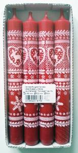 Steinhart Leuchterkerzen Norweger 4 Stück 180 x 22mm