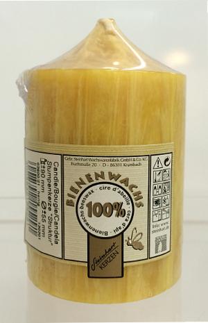 Steinhart Stumpenkerze 100% Bienenwachs 90 x 55mm