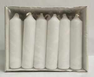 Pyramidenkerzen Weiss 18er 95/20mm