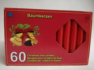 KCB Baumkerzen, rot - 60er