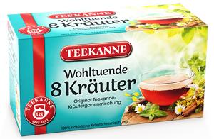 Teekanne 8 Kräuter Wohltuend & Harmonisch 40g für  20er x 2g