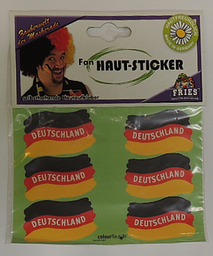 1- Fan Haut-Sticker Deutschland 6er