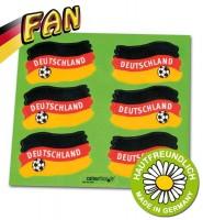 1- Fan Haut-Sticker Deutschland 6er