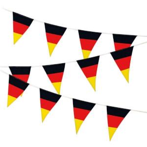 4- Deutschland Fan Wimpel-Girlande ca. 6m