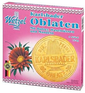 Wetzel 5 Karlsbader Oblaten Butter Haselnuss & Mandeln 5 Stück