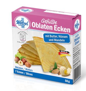 Wetzel Oblaten Ecken mit Butter, Nüssen und Mandeln 50g