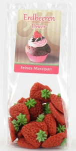 Odenwälder Marzipan Erdbeer Dekor 60g