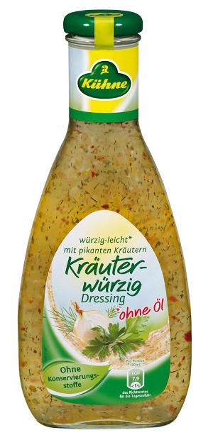5- Kühne Kräuter-würzig Dressing ohne Öl 500ml