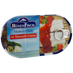 Rügen Fisch Makrelenfilets in Tomaten-Creme 200g