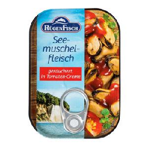 5- Rügenfisch Seemuschelfleisch geräuchert in Tomaten-Creme 110g