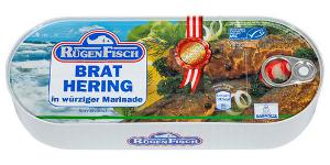 Rügen Fisch Brathering in Würziger Marinade 500g/300g