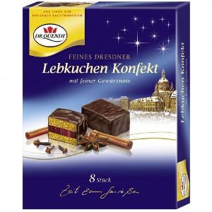 Dr. Quendt Feines Dresdner Lebkuchen Konfekt 130g für 8 Stück