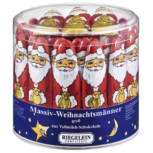 6- Riegelein Weihnachtsmänner Vollmilch-Schokolade 10 x 12,5g