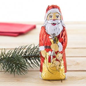 6- Riegelein Weihnachtsmann Vollmilch-Schokolade 3er x 25g