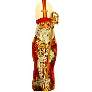 5- Riegelein St Nikolaus mit Mitra und Bischofsstab aus Vollmilch 140g