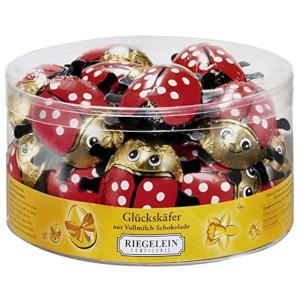 Riegelein Glückskäfer aus Vollmilch-Schokolade 125g für 10er