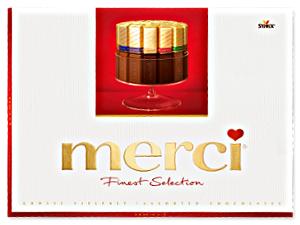 1- Merci Finest Grosse Vielfalt (8 Schokoladen Spezialitäten) 675g