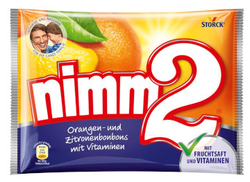 Storck Nimm 2 Orangen-und Zitronenbonbons mit Vitaminen 429g