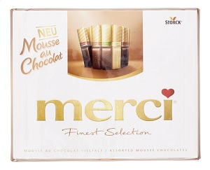 Merci Finest Selection Mousse au Chocolat Spezialitäten 210g
