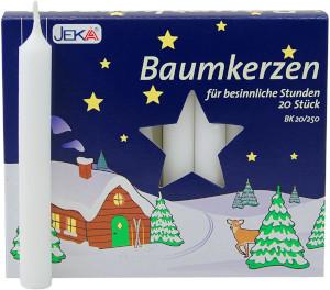 Jeka Baumkerzen Weiss 13 X 105mm für 20er