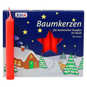 Jeka Baumkerzen rot 13 X 105mm 20er