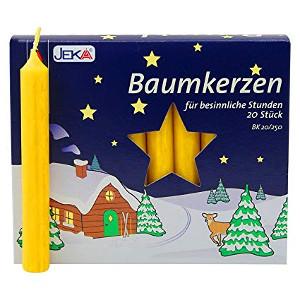Jeka Baumkerzen gelb 13 X 105mm für 20er