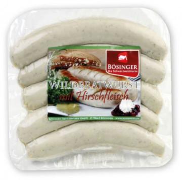 Bösinger Wildbratwurst mit Hirschfleisch 500g