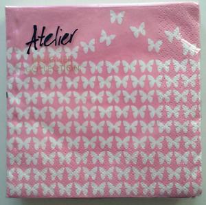 Braun + Company Papierservietten Schmetterlinge 20 Stück