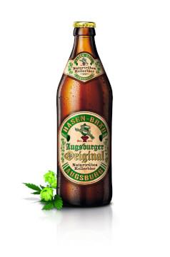 Hasen Bräu Augsburger Original Naturtrübes Kellerbier Alk. 5,4%