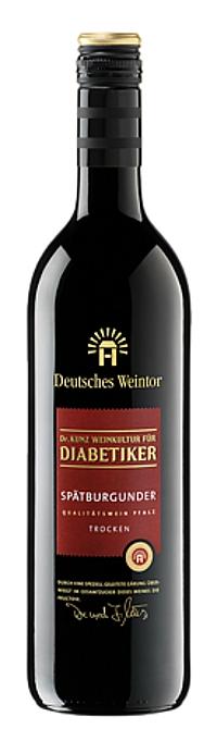 Deutsches Weintor DIABETIKER 2016 Spätburgunder trocken Alk. 12,0% vo