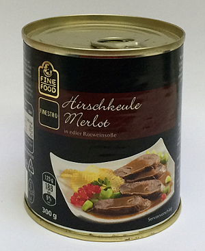 Fine Food Hirschkeule Merlot 300g