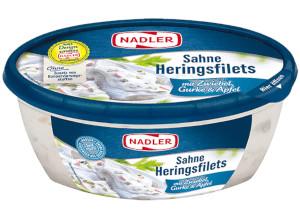 Nadler Sahne-Heringsfilets mit Zwiebel, Gurke & Apfel 400g
