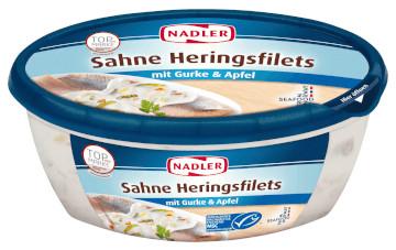 Nadler Sahne-Heringsfilets mit Gurke & Apfel (400g)