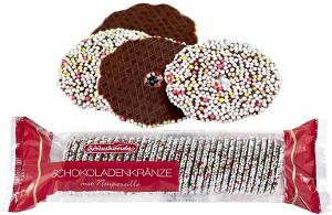 4- Schluckwerder Schokoladen Kränze mit Nonpareille 200g