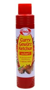 Hela Curry Gewürz Ketchup scharf 500ml