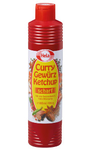 Hela Curry Gewürz Ketchup scharf (800ml)