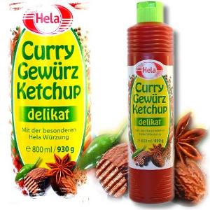 Hela Curry Ketchup Gewürz Delikat 800ml